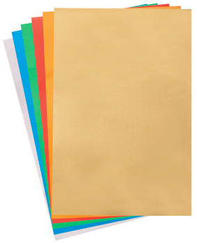 Aluminium Embossing Foil A4 - Coloured (Pack of 10)