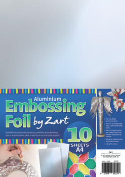 Aluminium Embossing Foil A4 - Silver (Pack of 10)