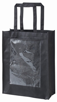 Black Eco Bag with Display Pocket - Small (Pack of 10)