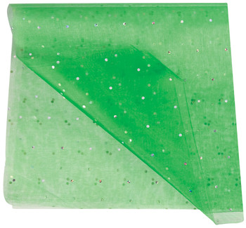 Translucent Green Diamond fabric which is ideal for draping, costumes and room dividers.