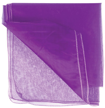Translucent purple fabric which is ideal for draping, costumes and room dividers.