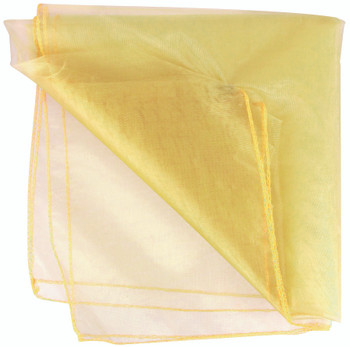 Translucent yellow fabric which is ideal for draping, costumes and room dividers.
