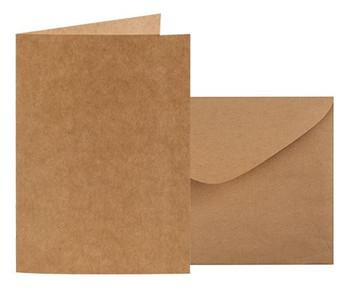 Kraft Card & Envelopes - Pack of 10