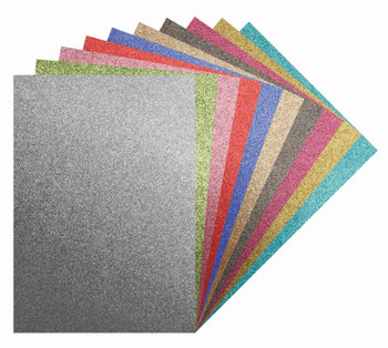 Glitter Iron On Sheets A4 - Pack of 10