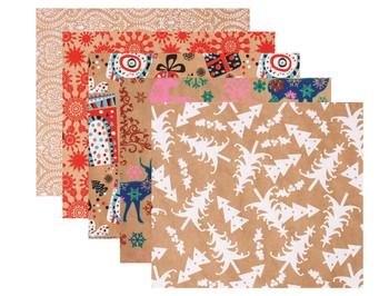 Christmas Kraft Paper - Pack of 40