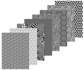 Pattern Paper A4 - Contrast (Pack of 40)