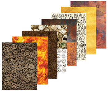 Pattern Paper A4 - Steampunk (Pack of 40)