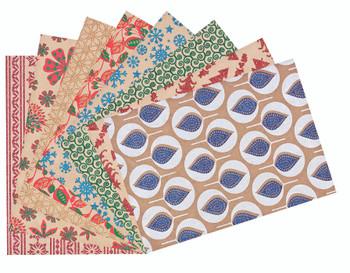Glitter Christmas Kraft Paper - Pack of 40