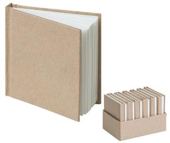 Kraft Mini Notebooks - 7.5 x 7.5cm (Pack of 12)