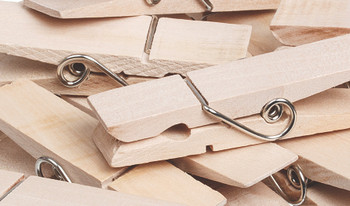 Wooden Pegs - 2 x 7cm (Pack of 12)