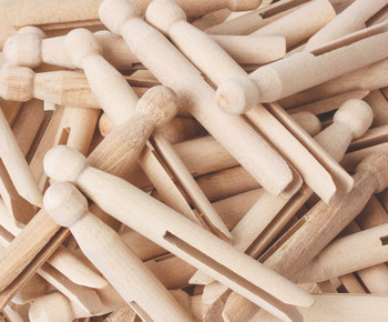 Dolly Pegs 11cm - Natural (Pack of 60)