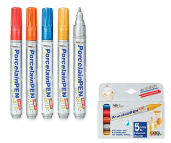 Porcelain Markers - Metallic (Pack of 5)