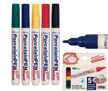 Porcelain Markers - Assorted (Pack of 5)