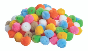 Pom Poms with Hole - 20mm (Pack of 100)
