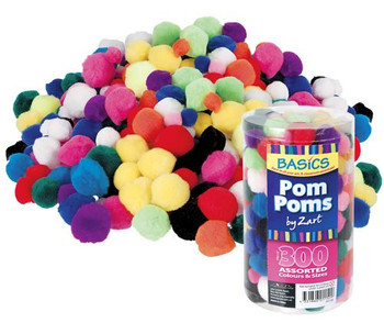 Pom Poms - Assorted Colours (Pack of 300)