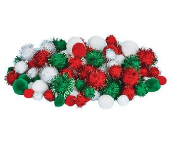 Pom Poms - Christmas (Pack of 300)