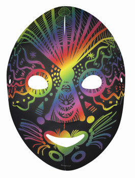Scratch Full Face Masks - Multicoloured (Pack of 20)