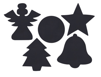 Scratch Christmas Shapes - Pack of 30