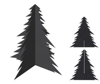 Scratch Christmas Trees - Pack of 20