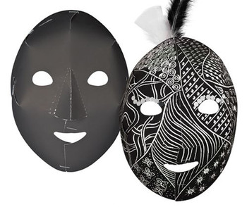 Scratch Full Face Masks - White (Pack of 20)