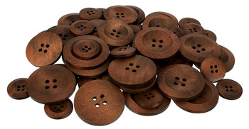 Wooden Buttons - Pack of 50
