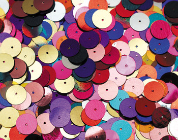 Sequins 10mm - Flat Assorted (Pack of 1000)