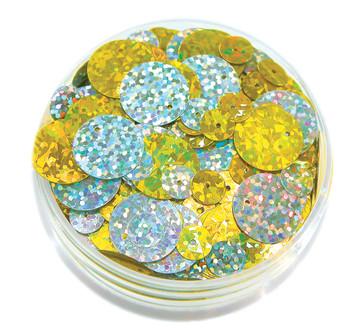 Sequins in a Jar - Hologram Round (50g)