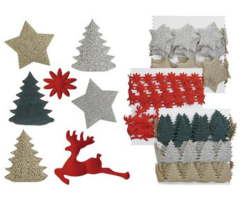 Adhesive Christmas Decorations - Pack of 300