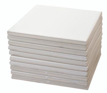 Glazed Tile - White (Pack of 10)