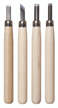 Deluxe Lino & Wood Carving Tools - Set of 4