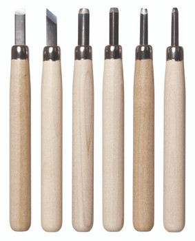Deluxe Lino & Wood Carving Tools - Set of 6