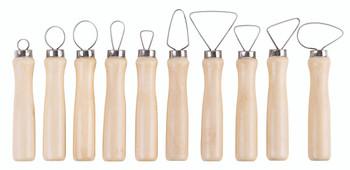 Pottery Ribbon Loop Tools - Set of 10