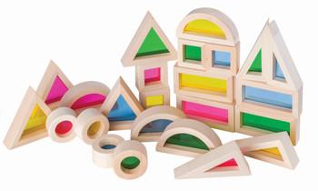 Light & Colour Rainbow Blocks - Pack of 24