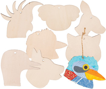 Wooden Australian Animal Hangers - Pack of 21