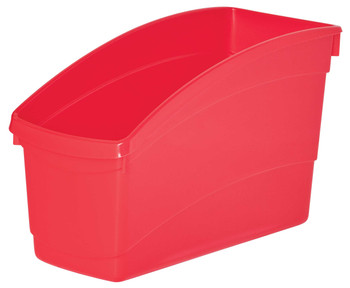 Plastic Book and Storage Tubs - Red