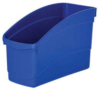 Plastic Book and Storage Tubs - Blue