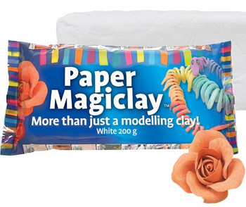 Paper Magiclay Flat Pack - White (200g)