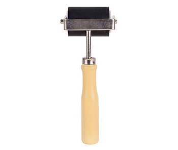Hard Rubber Brayer with Wooden Handle (50mm)