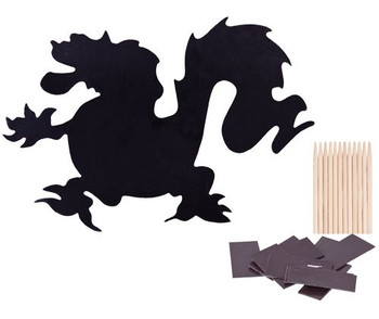 Scratch Magnets - Dragons (Pack of 12)