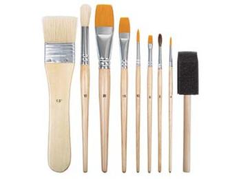 Art & Craft Brush Set - Pack of 9 (Assorted)
