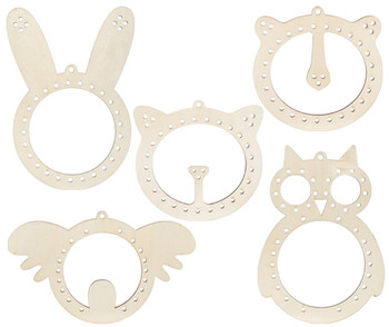 Wooden Weaving Animal Heads - Pack of 10