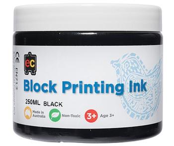 Block Printing Ink 250ml - Black