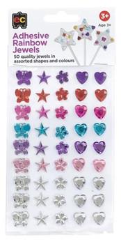 Adhesive Rainbow Jewels - Set of 50