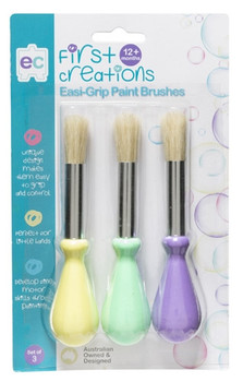 First Creations Easi-Grip Paint Brushes - Set of 3