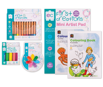 First Creations Drawing & Colouring Set
