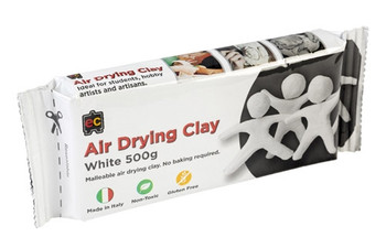 Air Drying Clay 500g - White