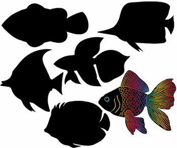 Scratch Shapes - Fish (Pack of 24)