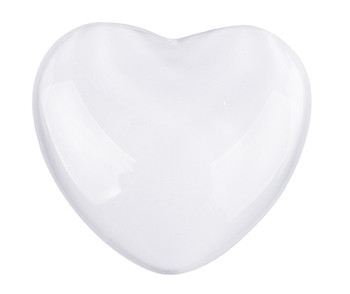 Glass Heart Clear - 51mm (Pack of 10)