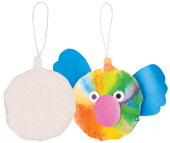 Pre-Stuffed Calico Round Bauble - Pack of 10