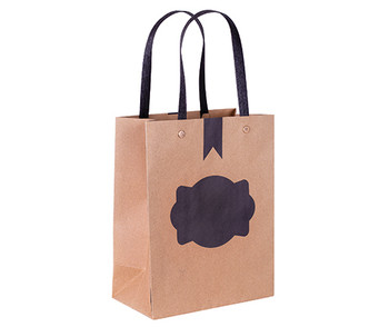 Blackboard Paper Bag with Handle - Small (Pack of 12)